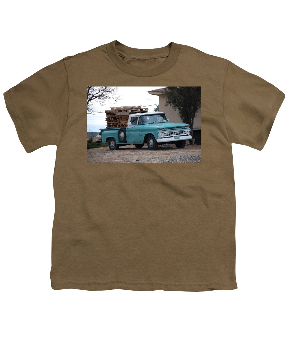 Old Truck Youth T-Shirt featuring the photograph Old Chevy by Rob Hans
