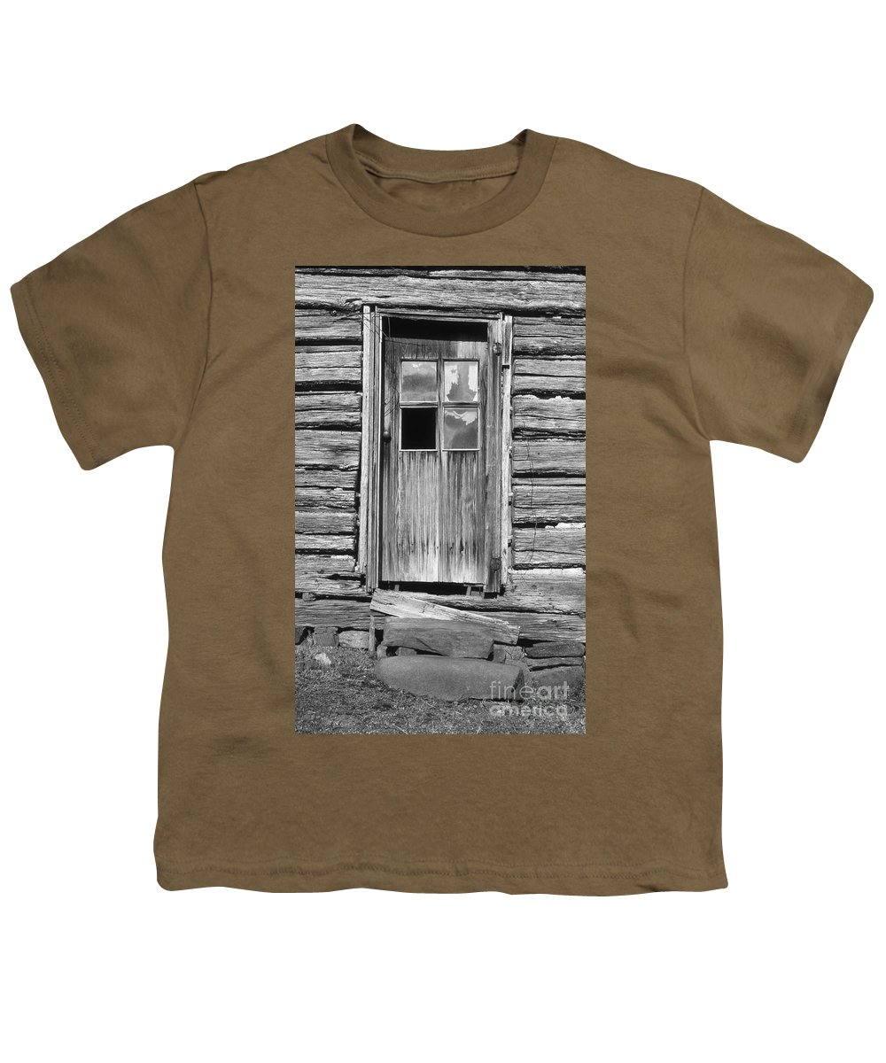 Aged Youth T-Shirt featuring the photograph Old Door by Richard Rizzo