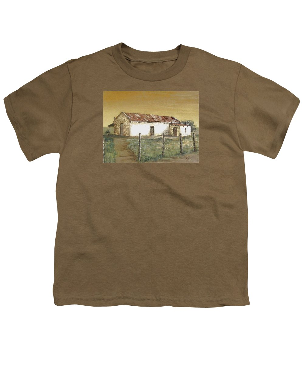 Old House Landscape Country Youth T-Shirt featuring the painting Old House by Natalia Tejera