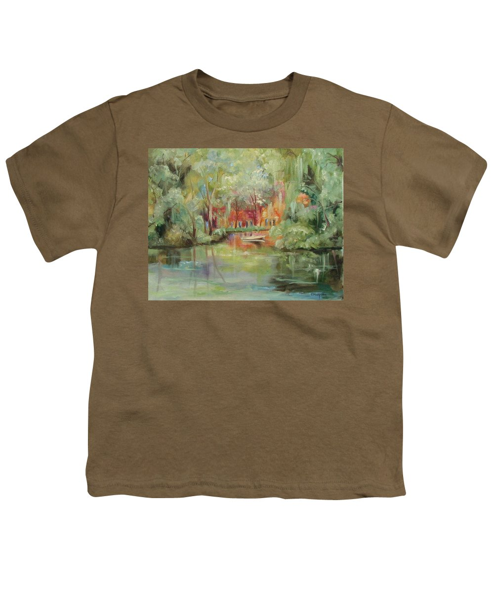 Bayou Youth T-Shirt featuring the painting On A Bayou by Ginger Concepcion