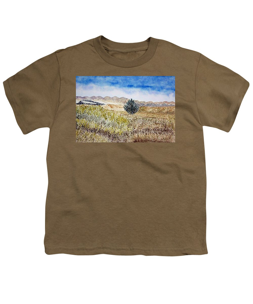 Desert Art Youth T-Shirt featuring the painting Onyo National Forest by Larry Wright