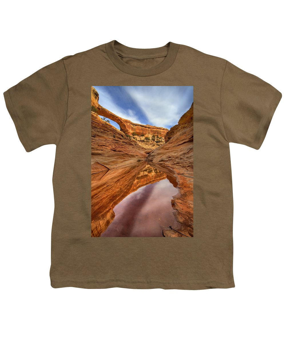 Bridge Youth T-Shirt featuring the photograph Owachomo Reflected by Mike Dawson