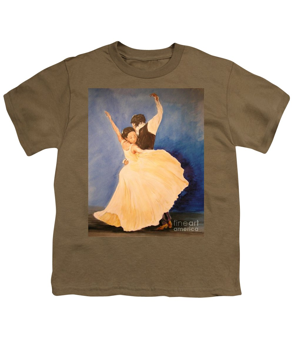 Spain Youth T-Shirt featuring the painting Pasion Gitana by Lizzy Forrester