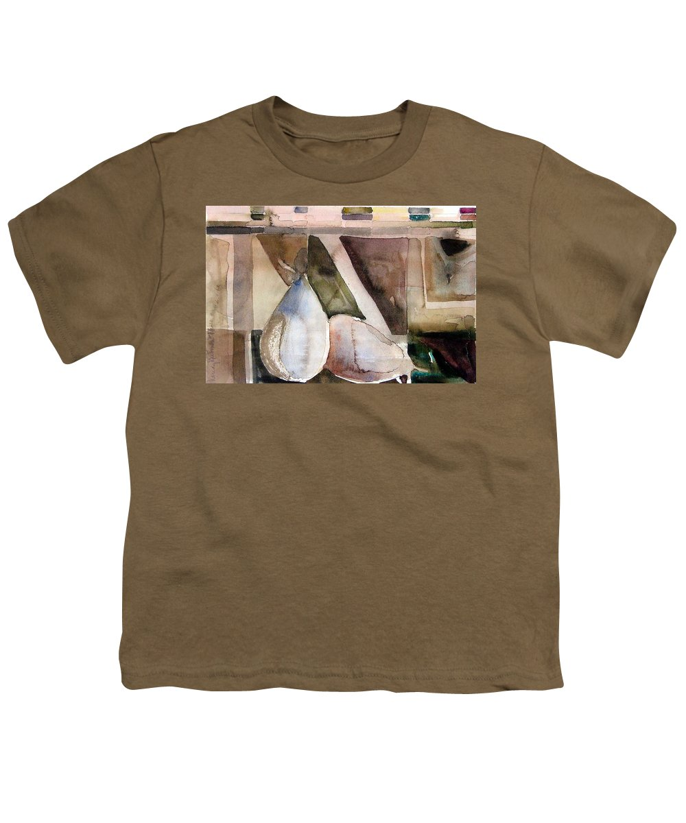 Pear Youth T-Shirt featuring the painting Pear Study In Watercolor by Mindy Newman