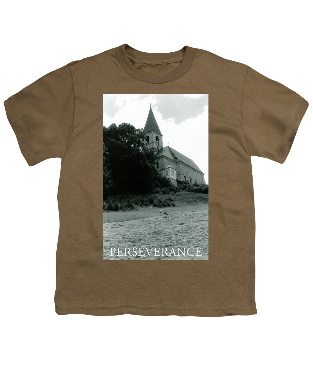 Church Youth T-Shirt featuring the photograph Perseverance by Michelle Calkins