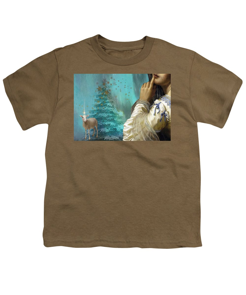 Portraiture Youth T-Shirt featuring the painting Pondering Peace by Laura Botsford