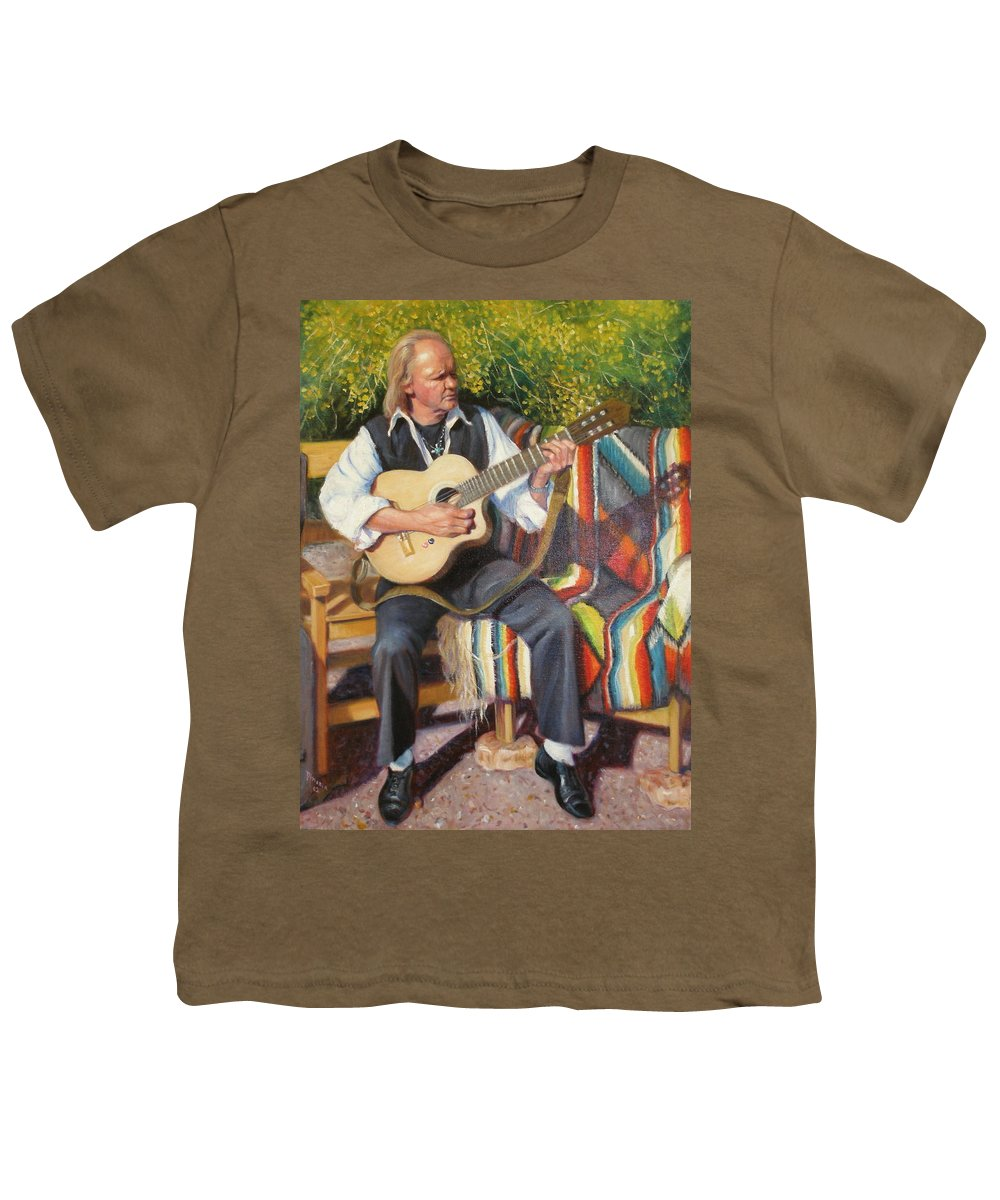 Realism Youth T-Shirt featuring the painting Por Tu Amor by Donelli DiMaria