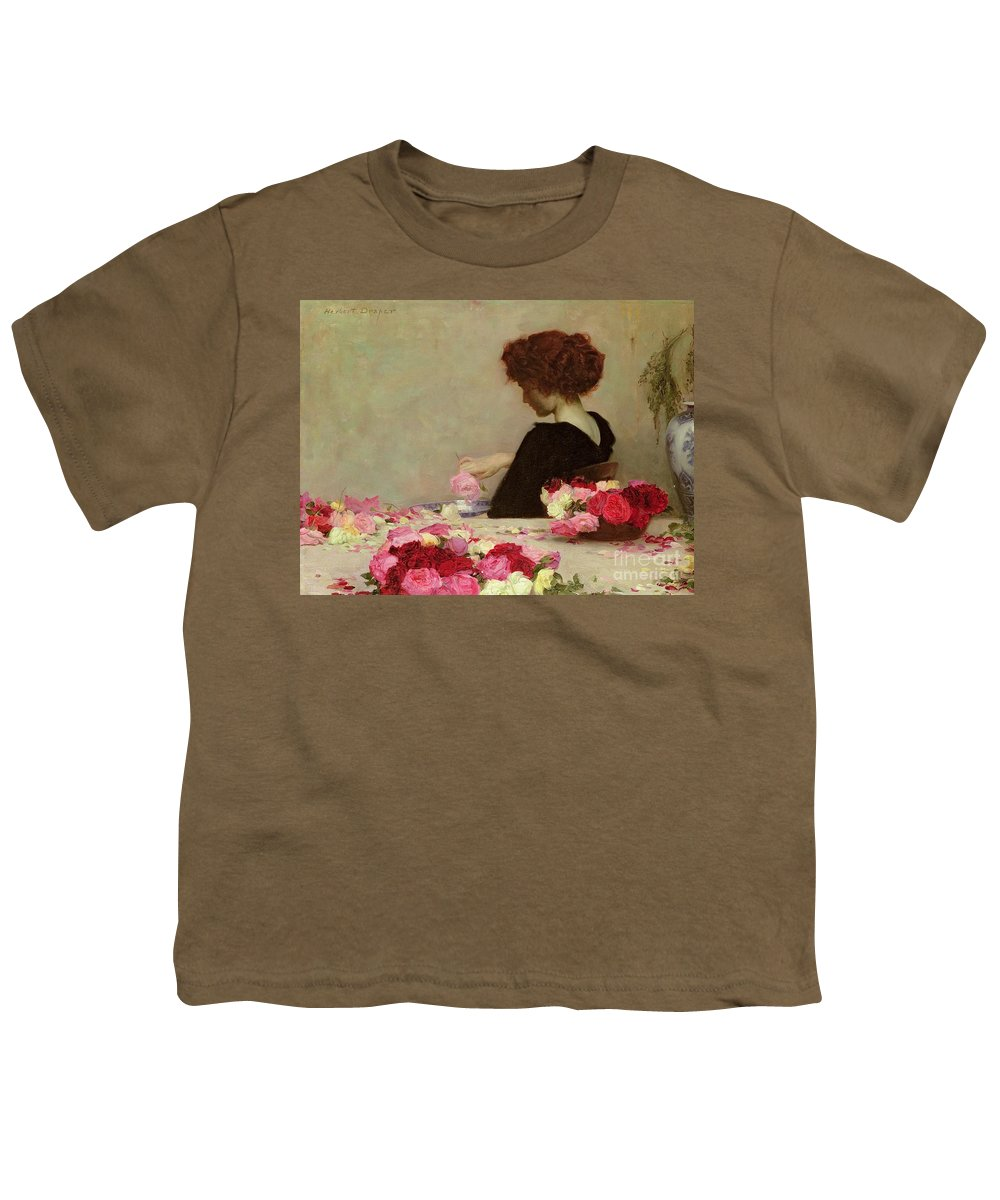 Female Youth T-Shirt featuring the painting Pot Pourri by Herbert James Draper