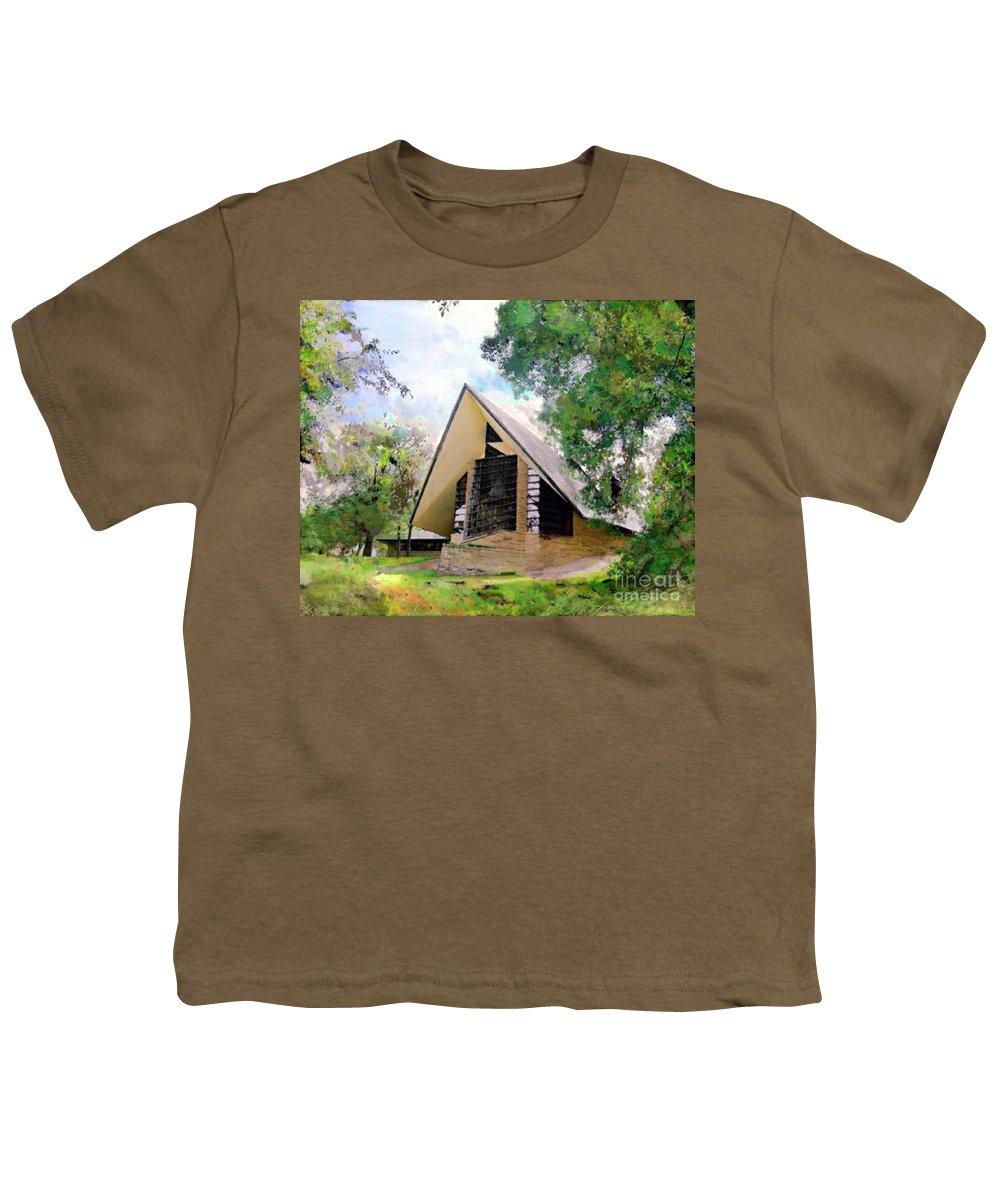 Praying Hands Youth T-Shirt featuring the digital art Praying Hands by John Beck