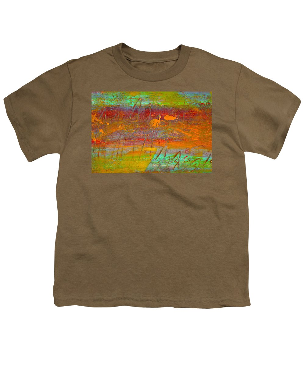 Abstract Youth T-Shirt featuring the painting Prelude To A Sigh by Wayne Potrafka