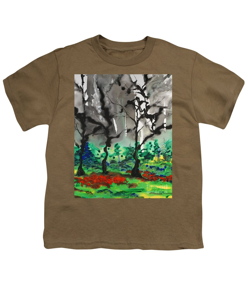 Forest Youth T-Shirt featuring the painting Primary Forest by Nadine Rippelmeyer