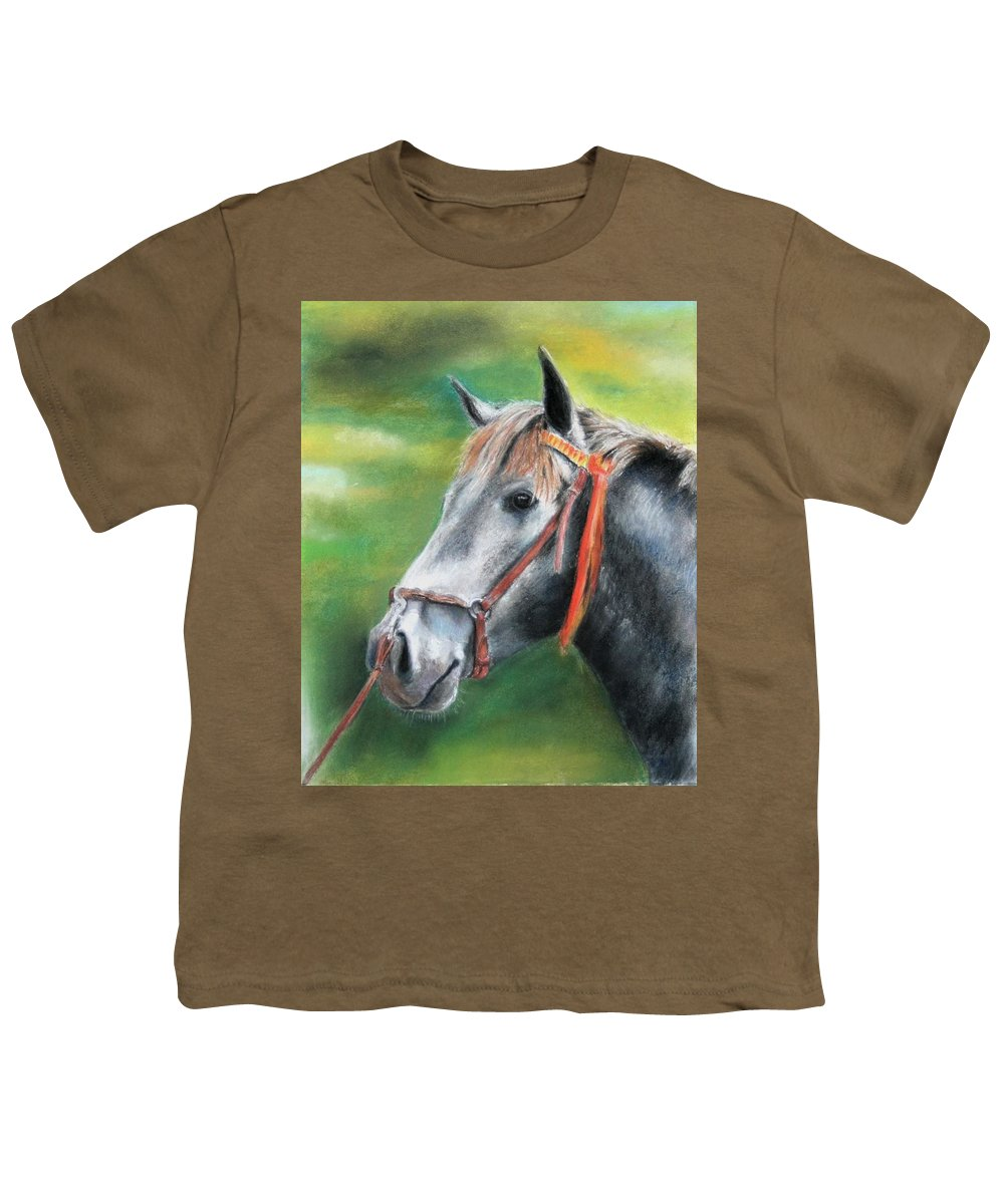 Horse Youth T-Shirt featuring the painting Pure Spanish by Ceci Watson