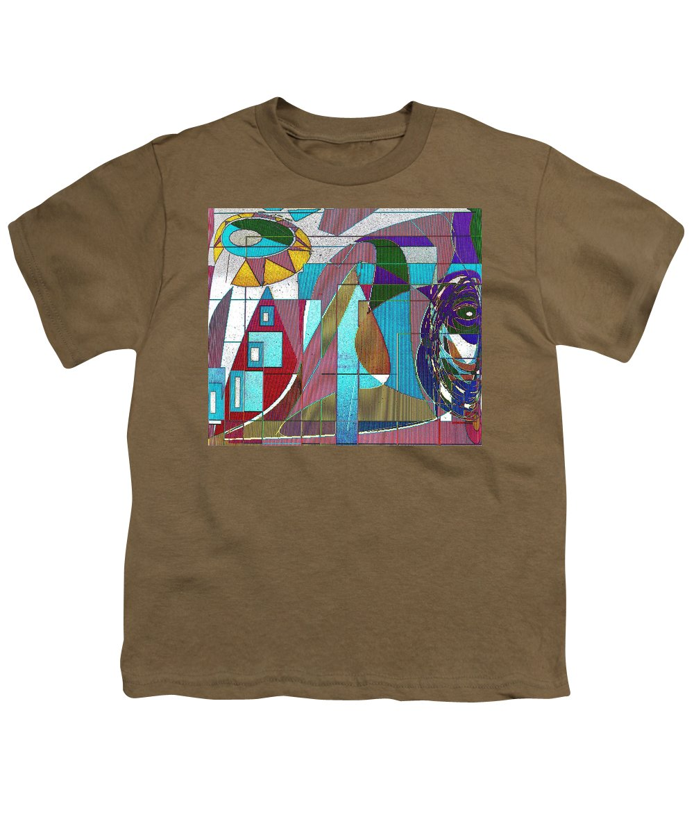 Purple Youth T-Shirt featuring the digital art Purple And Blue by Ian MacDonald