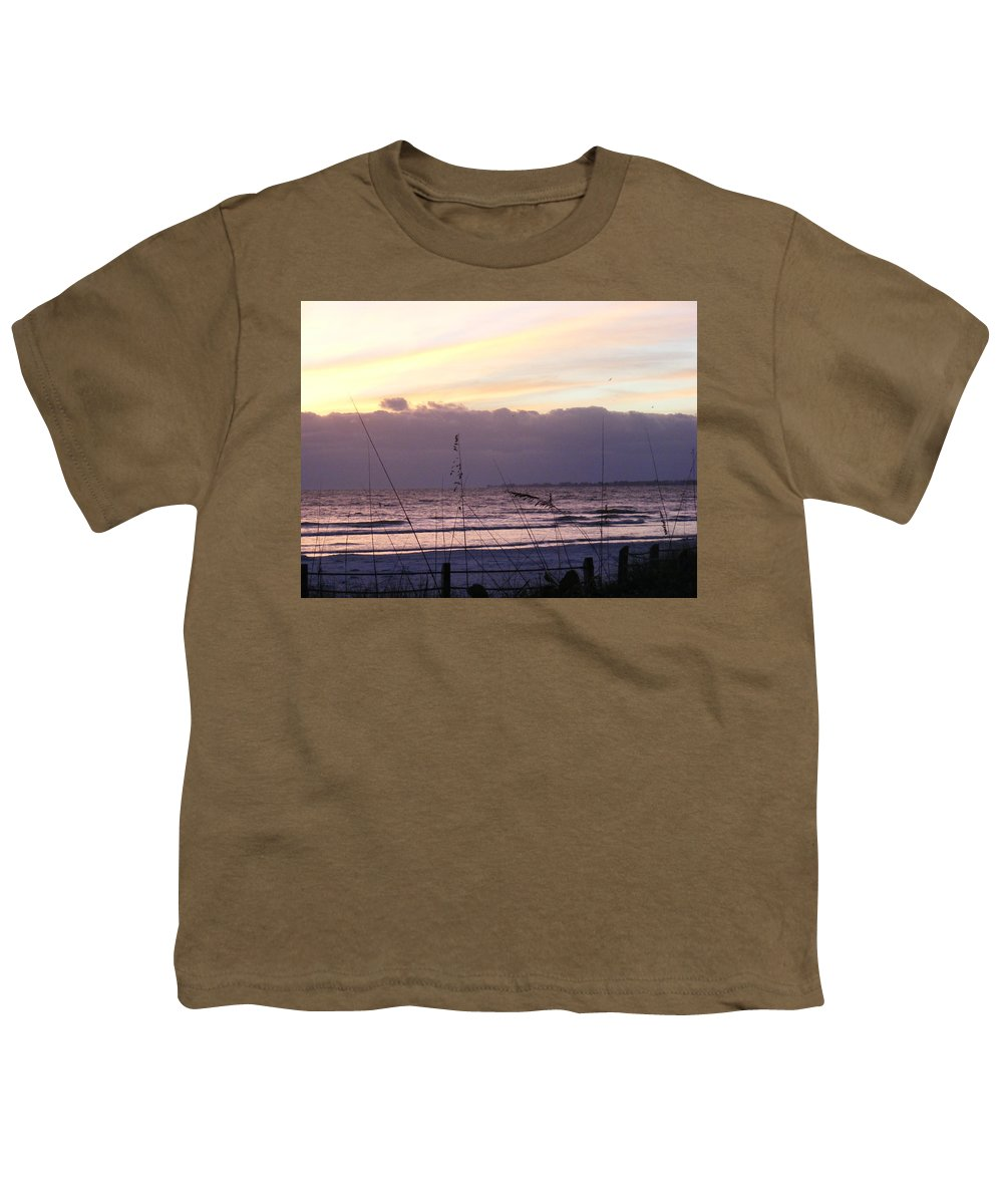 Landscape Youth T-Shirt featuring the photograph Purple Haze by Ed Smith