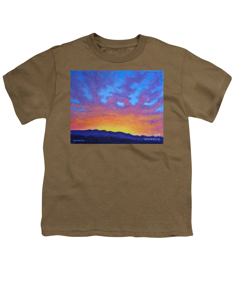 Landscape Youth T-Shirt featuring the painting Radiance by Brian Commerford