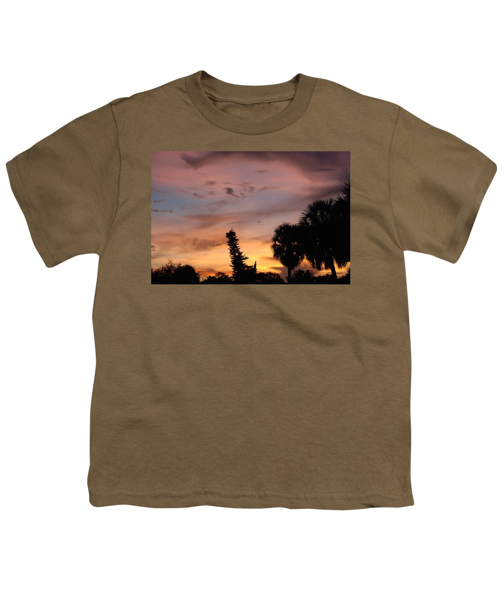 Sunset Youth T-Shirt featuring the photograph Rainbow Sunset by Rob Hans