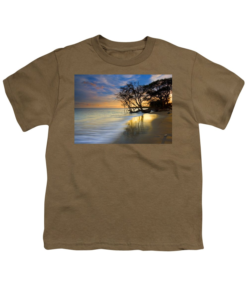 Waves Youth T-Shirt featuring the photograph Reflections Of Paradise by Mike Dawson