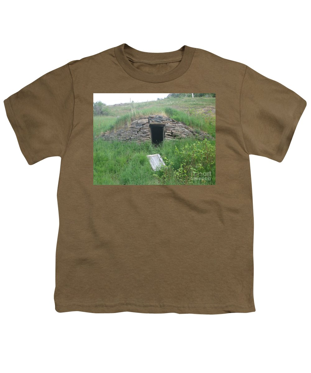 Photograph Cellar Old Green Newfoundland Youth T-Shirt featuring the photograph Root Cellar by Seon-Jeong Kim