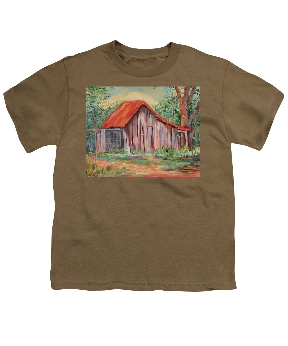 Chicken Coops Youth T-Shirt featuring the painting Russel Crow by Ginger Concepcion