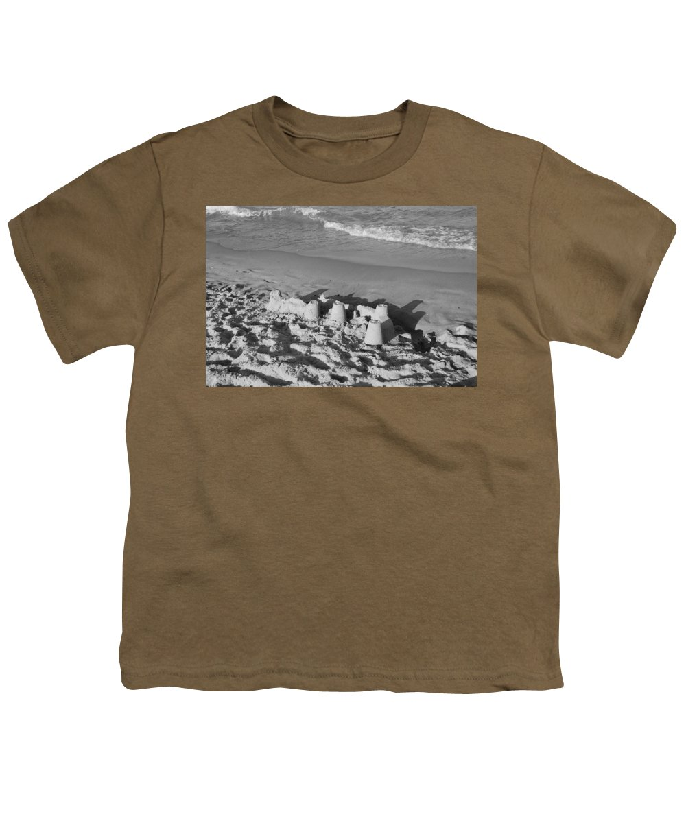 Sea Scape Youth T-Shirt featuring the photograph Sand Castles By The Shore by Rob Hans