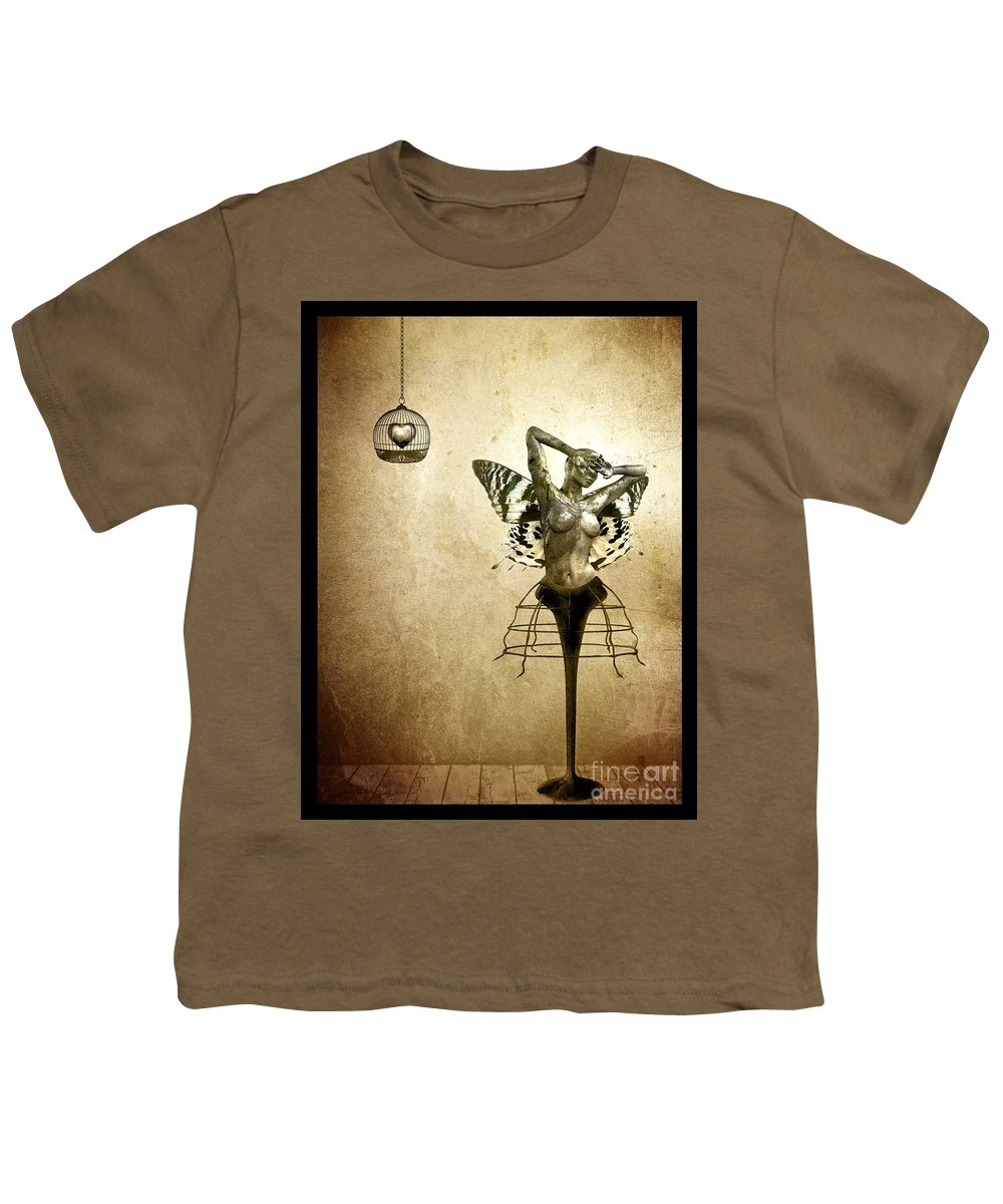 Digital Youth T-Shirt featuring the painting Scream Of A Butterfly by Jacky Gerritsen
