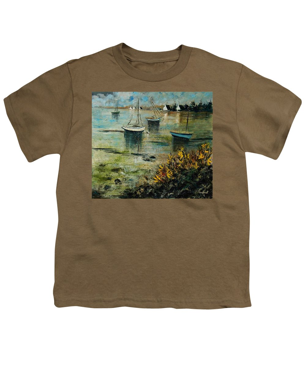 Seascape Youth T-Shirt featuring the print Seascape 78 by Pol Ledent