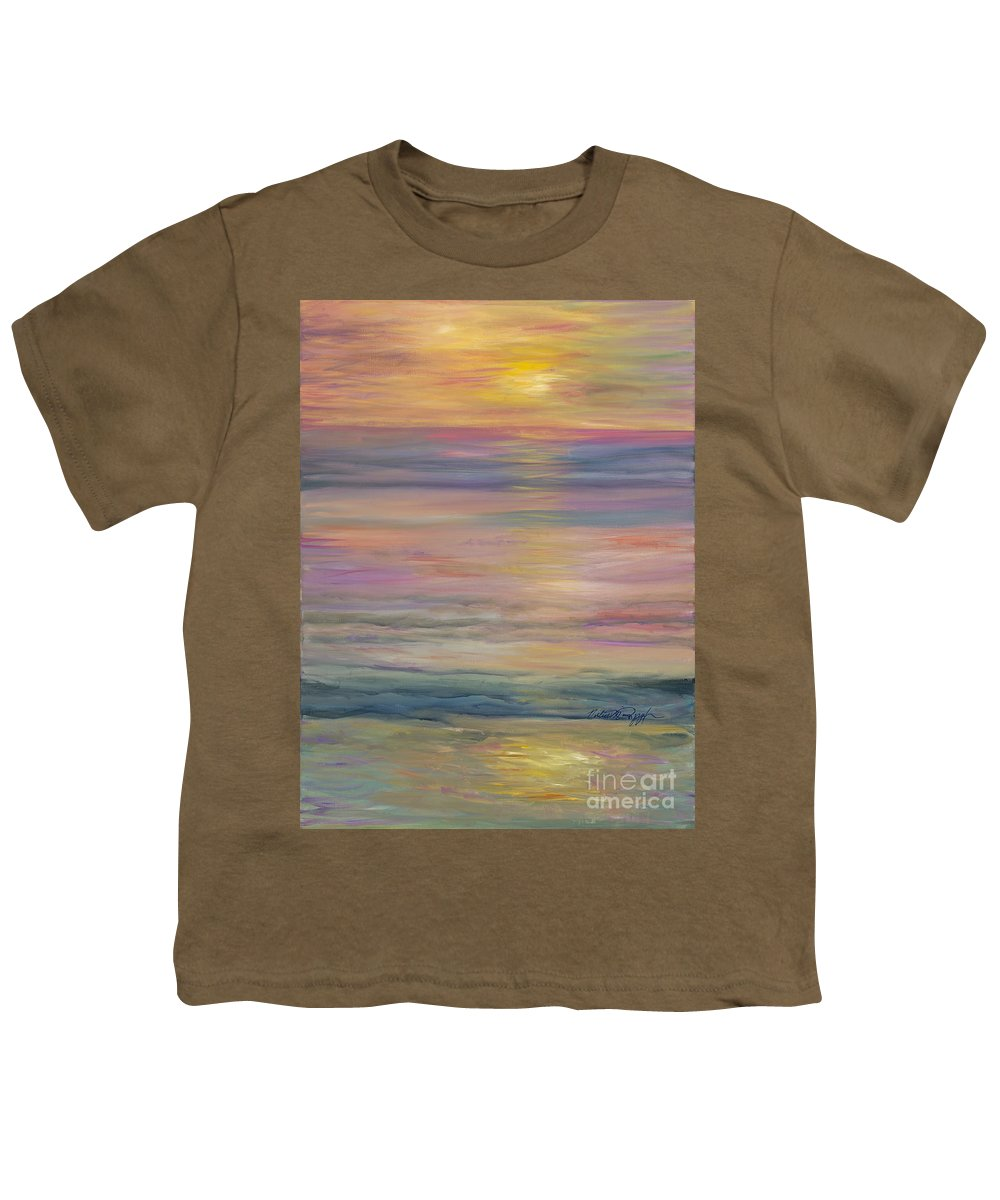 Sea Youth T-Shirt featuring the painting Seascape by Nadine Rippelmeyer