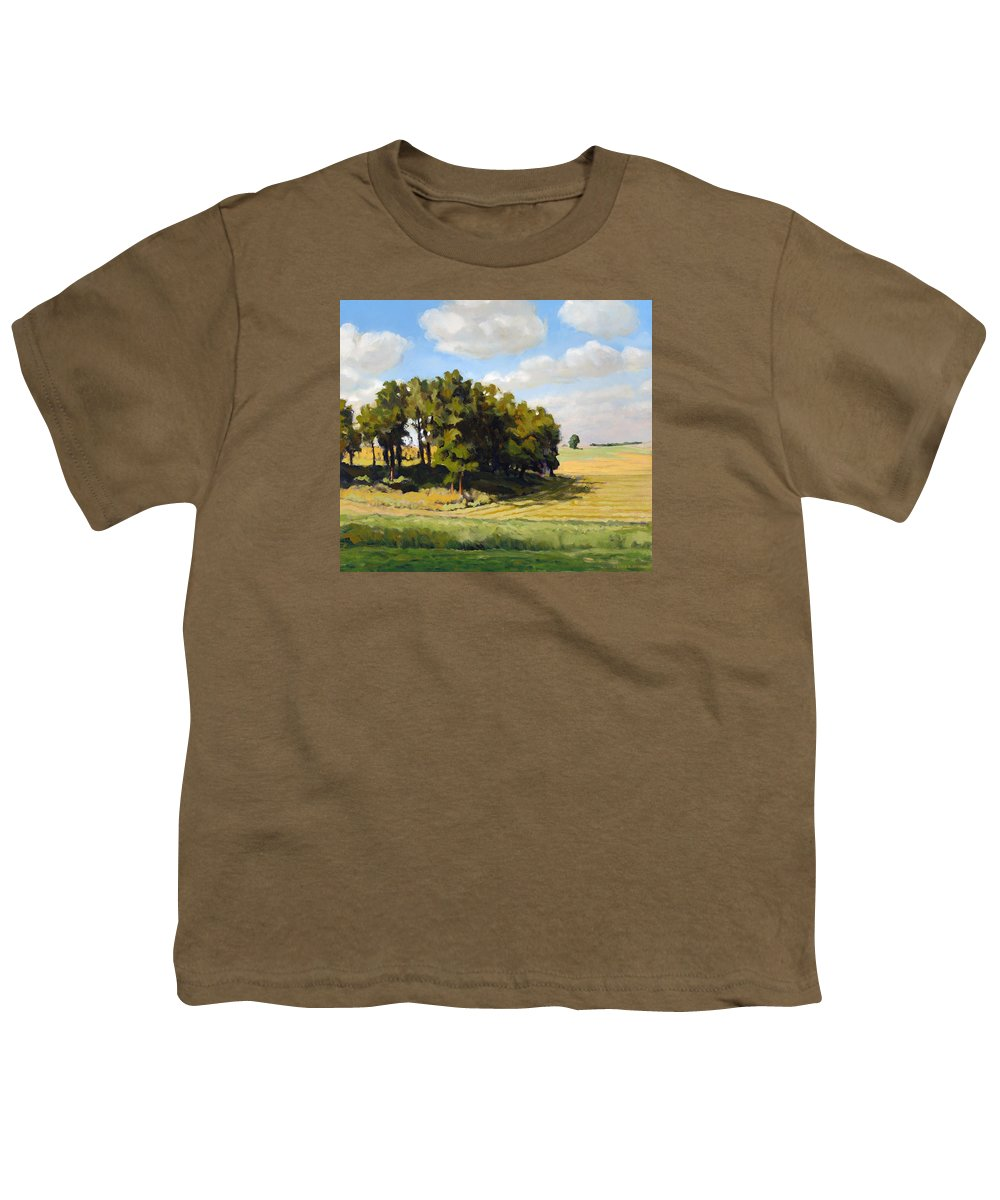 Landscape Youth T-Shirt featuring the painting September Summer by Bruce Morrison