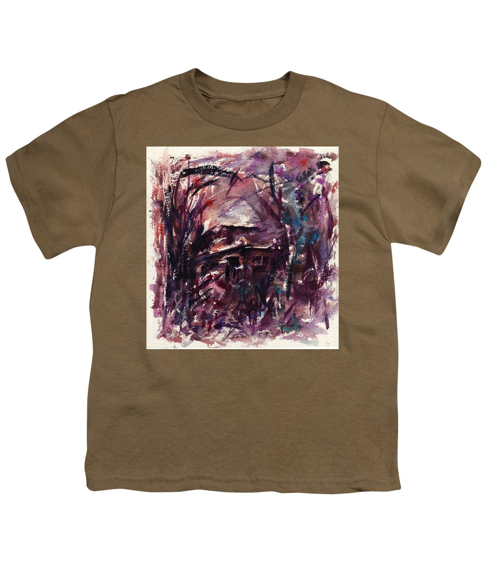Shack Youth T-Shirt featuring the painting Shack Second Movement by Rachel Christine Nowicki