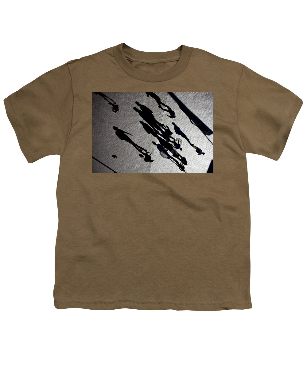 Shadows People Abstract Youth T-Shirt featuring the photograph Shadows by Sheila Smart Fine Art Photography