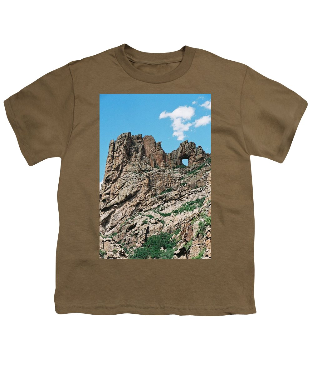 Shelf Road Youth T-Shirt featuring the photograph Shelf Road Rock Formations by Anita Burgermeister