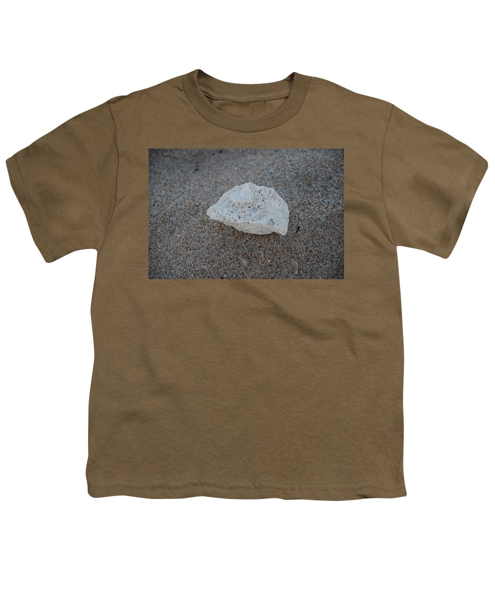 Shells Youth T-Shirt featuring the photograph Shell And Sand by Rob Hans