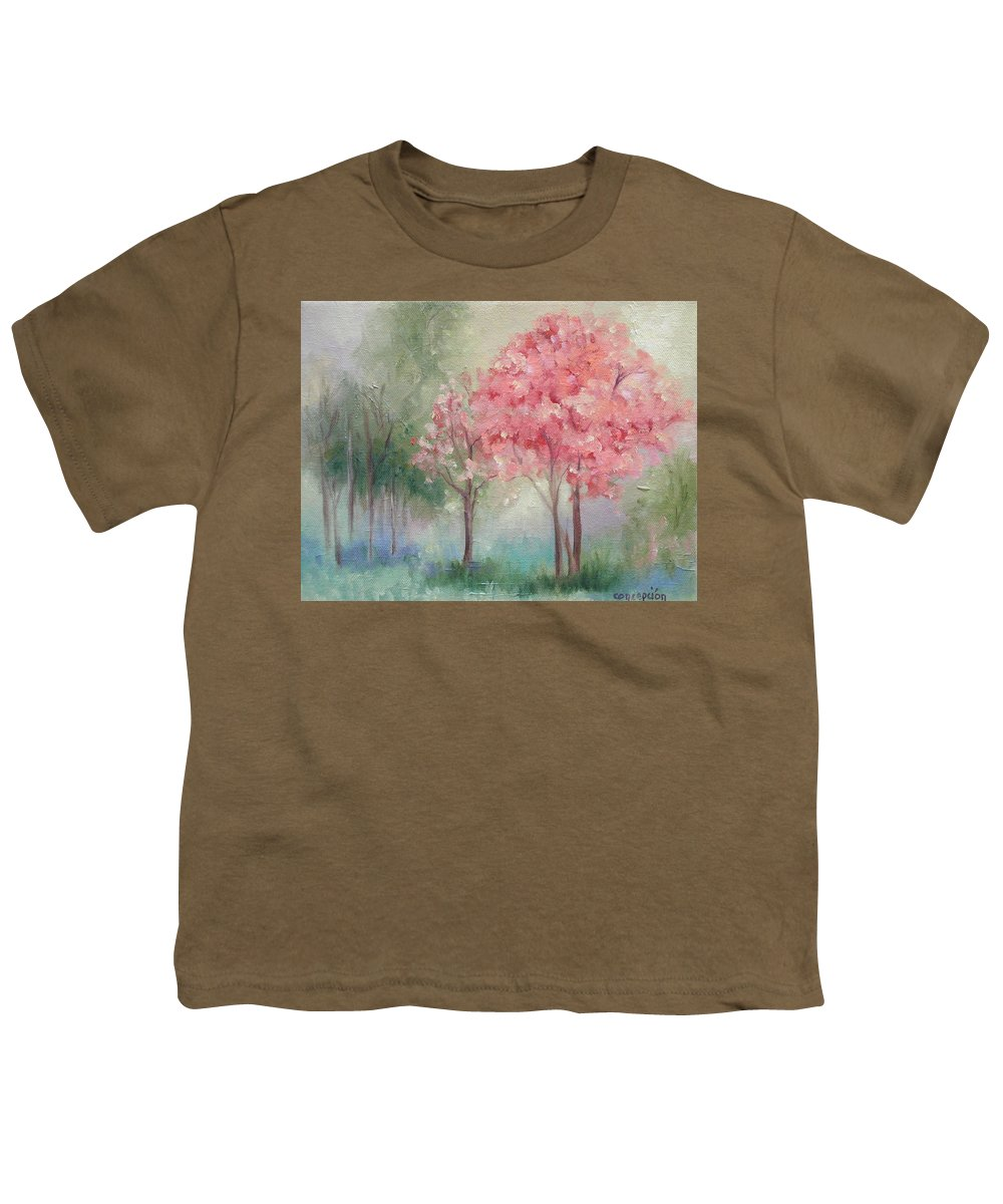 Spring Youth T-Shirt featuring the painting Sign Of Spring by Ginger Concepcion