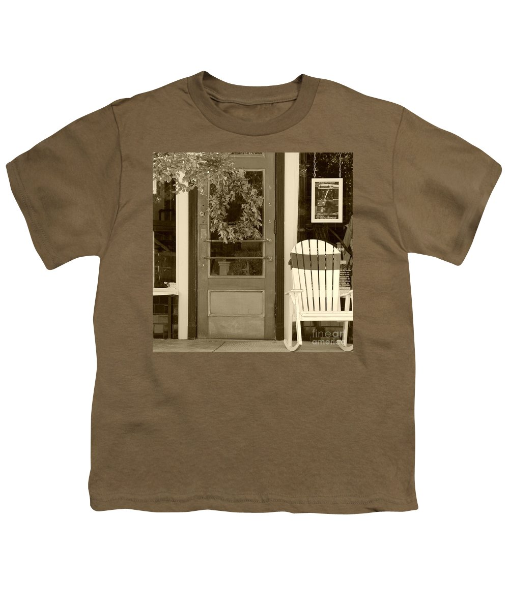 Rocking Chair Youth T-Shirt featuring the photograph Simple Times by Debbi Granruth