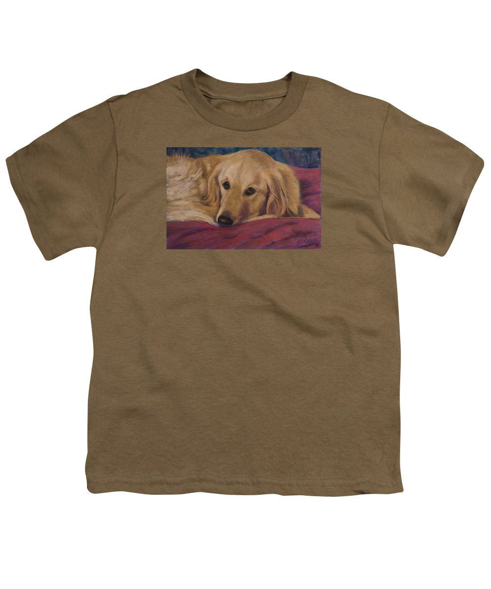Dogs Youth T-Shirt featuring the painting Soulfull Eyes by Billie Colson