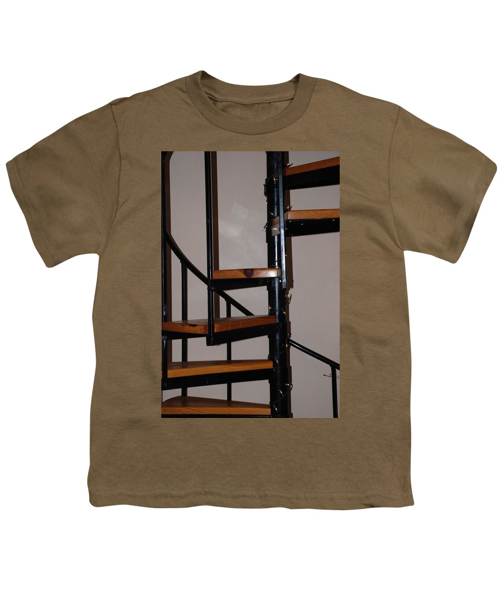 Stairs Youth T-Shirt featuring the photograph Spiral Stairs by Rob Hans