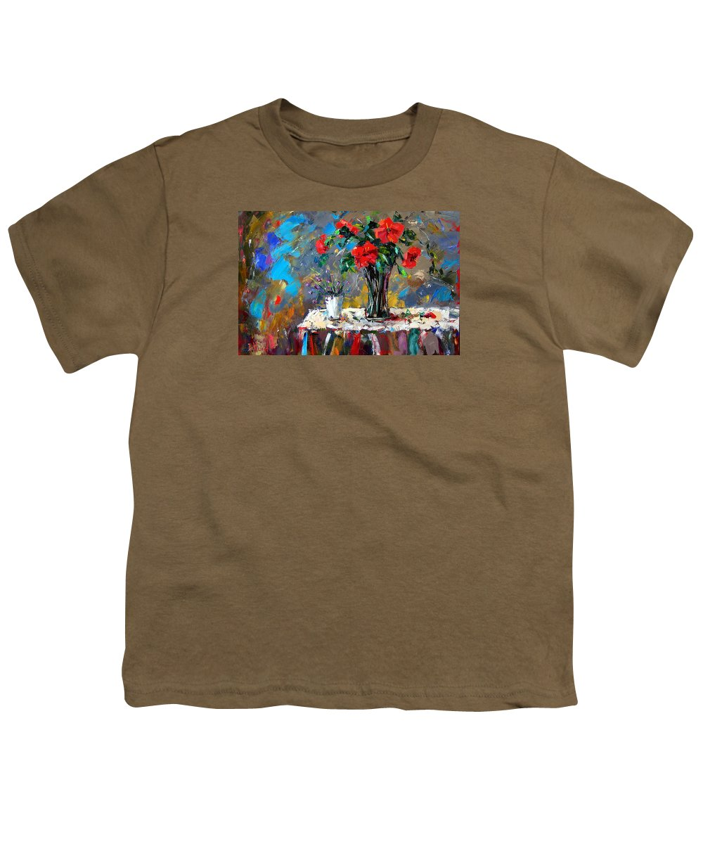 Flowers Youth T-Shirt featuring the painting Spring Blooms by Debra Hurd