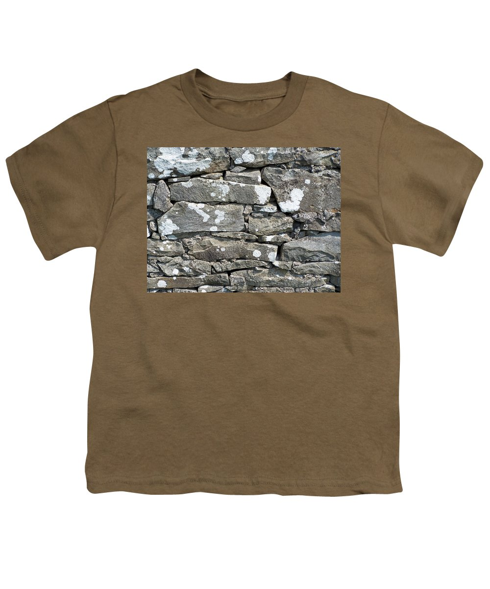 Irish Youth T-Shirt featuring the photograph Stone Wall Detail Doolin Ireland by Teresa Mucha