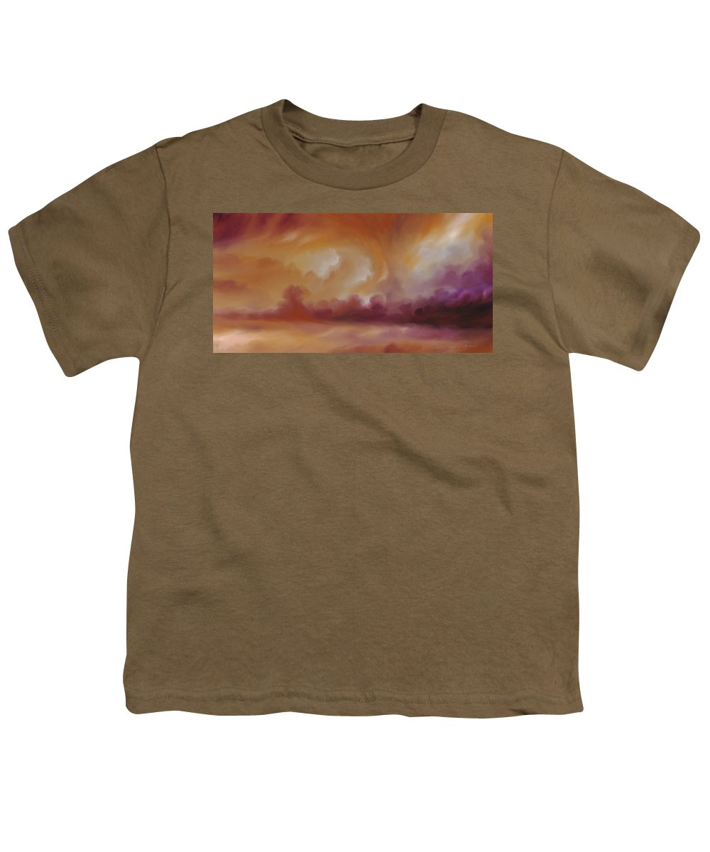 Tempest Youth T-Shirt featuring the painting Storm Clouds 2 by James Christopher Hill
