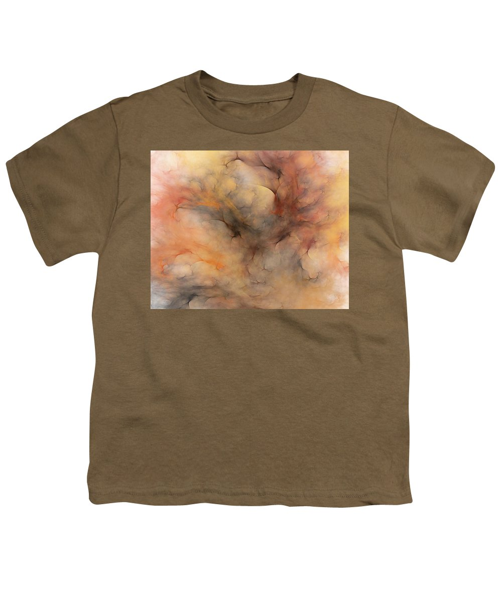 Abstract Youth T-Shirt featuring the digital art Stormy by David Lane