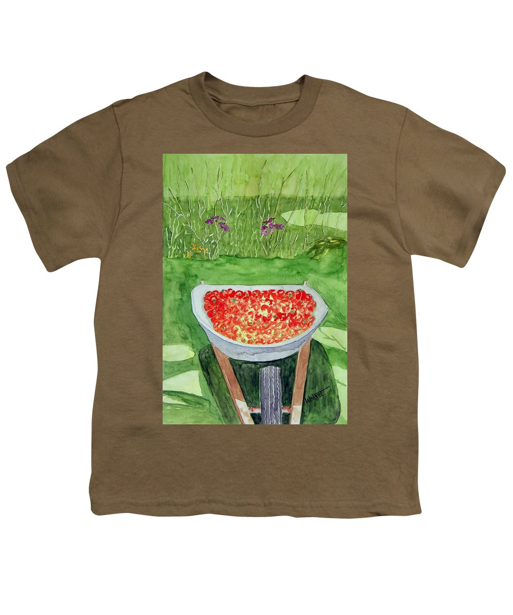 Rural Paintings Youth T-Shirt featuring the painting Summer Bounty by Larry Wright