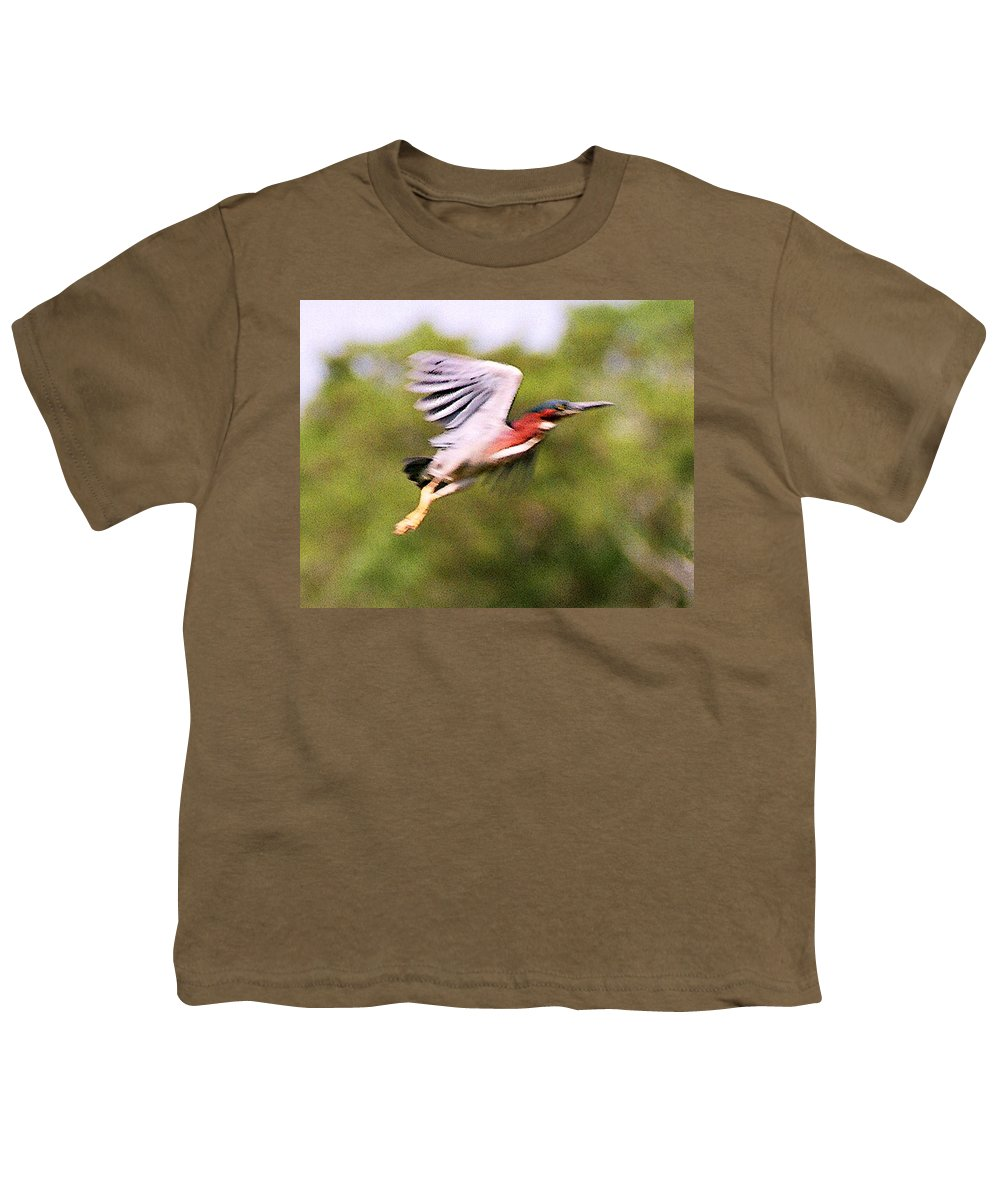Wild Life Youth T-Shirt featuring the digital art Take Off by Steve Karol