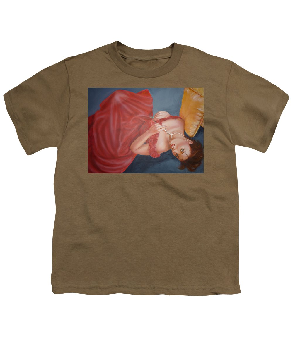 Romantic Youth T-Shirt featuring the painting Tammy by Bryan Bustard