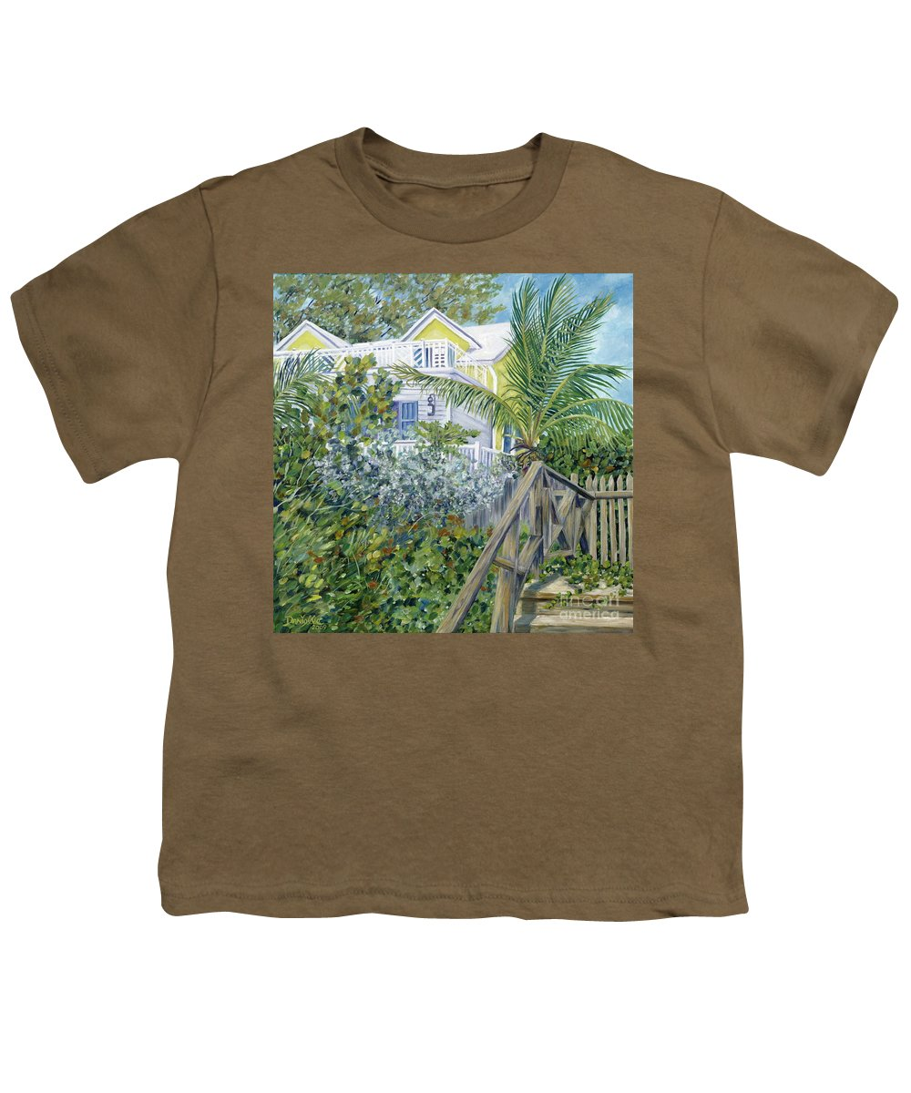 Beach House Youth T-Shirt featuring the painting The Beach House by Danielle Perry
