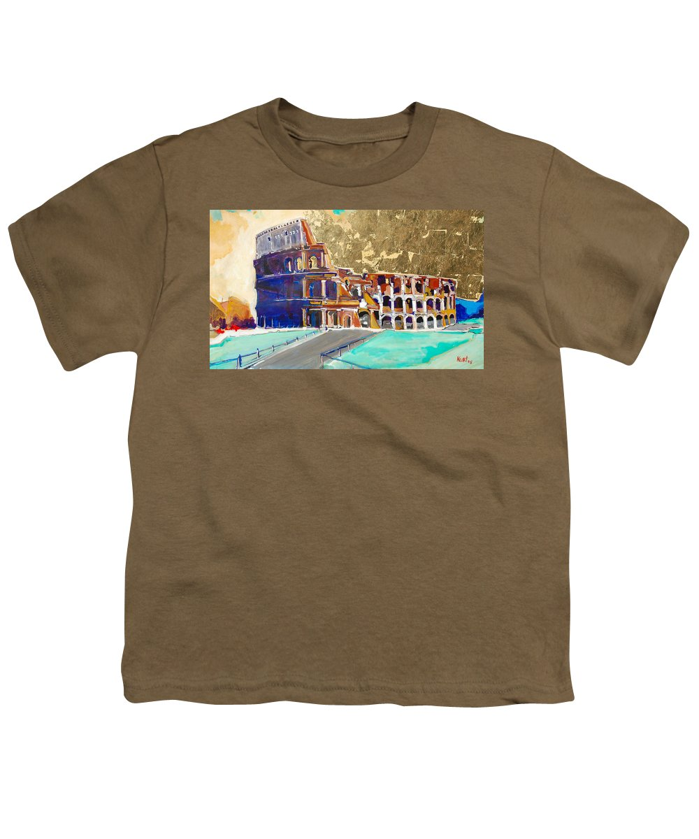 Colosseum Youth T-Shirt featuring the painting The Colosseum by Kurt Hausmann