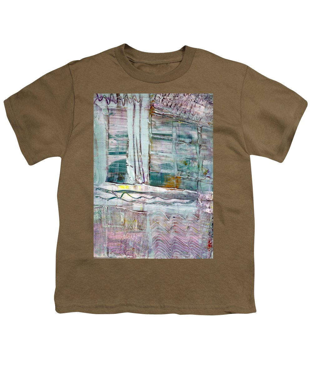 Abstract Youth T-Shirt featuring the painting The Corner Window by Wayne Potrafka