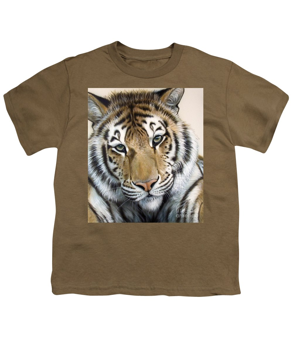 Acrylic Youth T-Shirt featuring the painting The Embrace by Sandi Baker