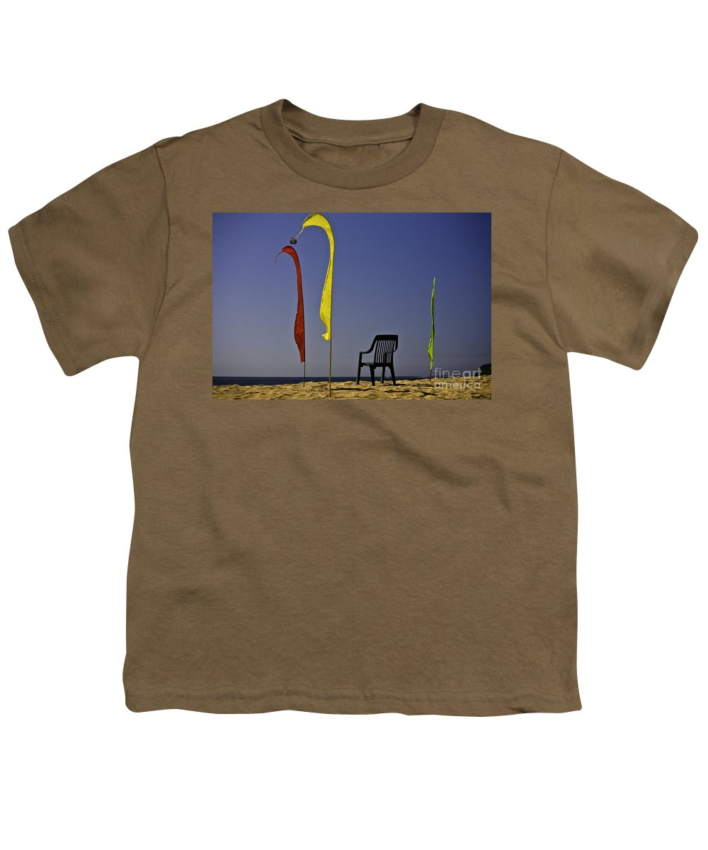 Beach Youth T-Shirt featuring the photograph The Empty Chair by Sheila Smart Fine Art Photography