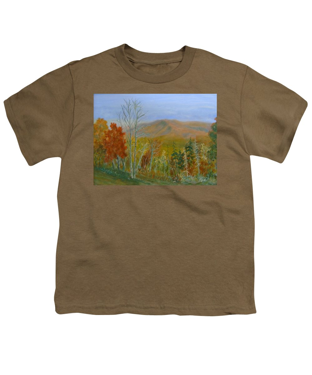 Mountains; Trees; Fall Colors Youth T-Shirt featuring the painting The Parkway View by Ben Kiger