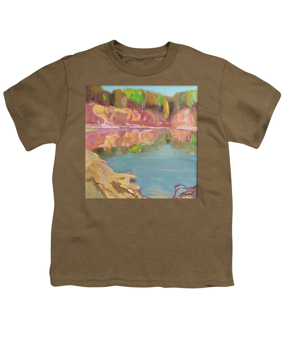 Oil Youth T-Shirt featuring the painting The Quarry by Sergey Ignatenko